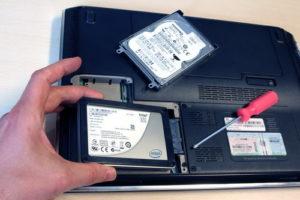 Remplacement d'un disque dur par un SSD